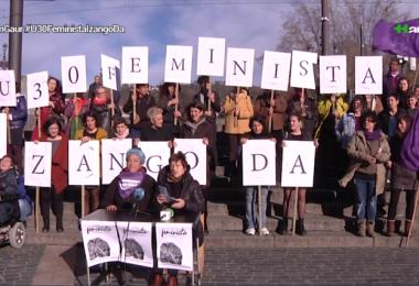 Mugimendu feministak egindako prentsaurrekoa